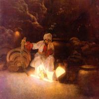 Kassim, de broer van Ali Baba, is de toverspreuk vergeten waarmee hij de schatkamer in de grot weer kan verlaten.<br />